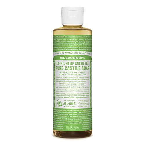 Dr. Bronner Castile Liquid Soap - Green Tea