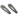 Valet Kelly Clip Duo- Black Glitter by Valet
