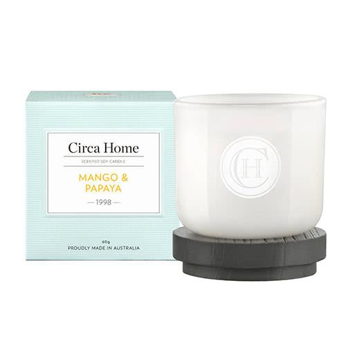 Circa Home Mango & Papaya Miniature Candle 60g by Circa Home Candles & Diffusers