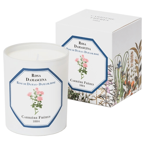 Carrière Frères Damask Rose Candle 185g by Carrière Frères