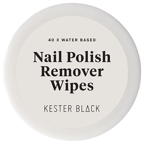 Kester Black Water-Based Nail Polish Remover Wipes - 40 pack by Kester Black