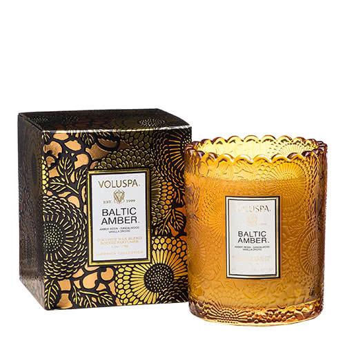 Voluspa Baltic Amber Scalloped Candle by Voluspa