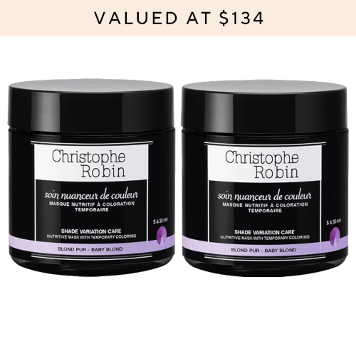 Christophe Robin Shade Variation Mask Baby Blonde Duo by Christophe Robin
