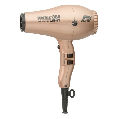 Parlux Power Light 385 Ionic & Ceramic Hairdryer - Gold by Parlux