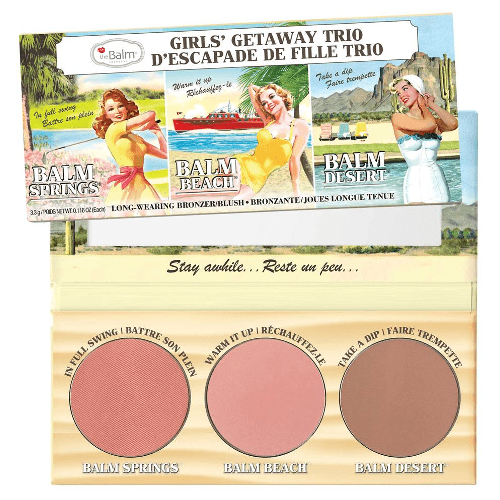 theBalm Girls Getaway Trio Long-Wearing Bronzer Blush by theBalm