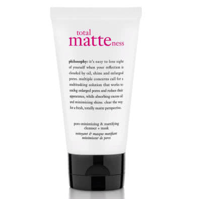 philosophy total matteness pore-minimizing & mattifying cleanser + mask by philosophy