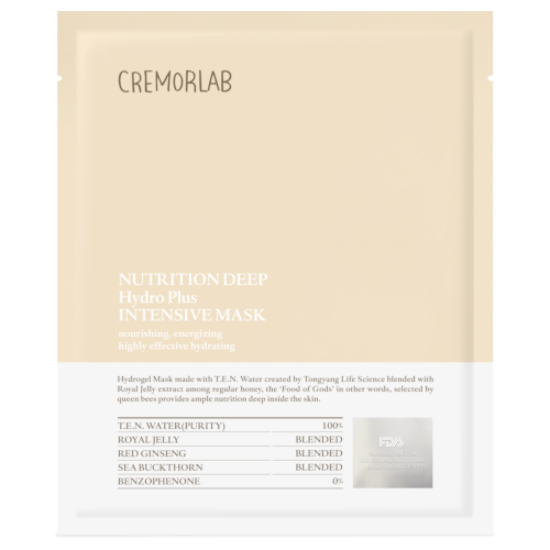 Cremorlab Nutrition Deep Hydro Plus Intensive Mask - 5 Sheets by Cremorlab