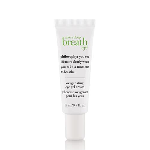 philosophy take a deep breath eye gel cream