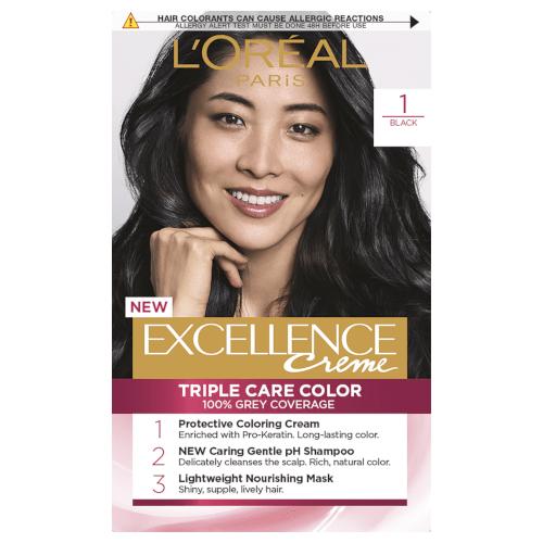 L'Oreal Paris Excellence Permanent Hair Colour - Black 1 by L'Oreal Paris