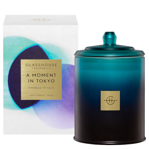 Glasshouse Fragrances A Moment in Tokyo 380g Triple Scented Soy Wax Candle by Glasshouse Fragrances