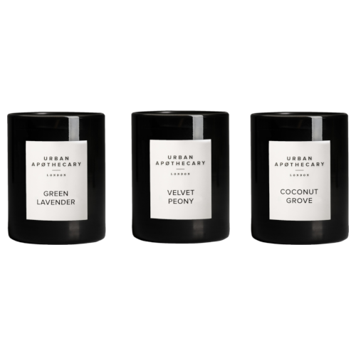 Urban Apothecary Luxury Candle Trio 70G - Green Lavender, Velvet Peony and Coconut Grove by Urban Apothecary London