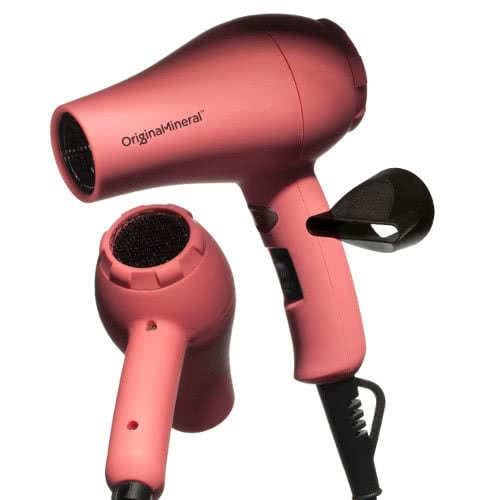 O&M Jet Setter Pink Mini Travel Hair Dryer by O&M Original & Mineral
