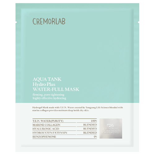 Cremorlab Aqua Tank Water-Full Mask - 5 Sheet Masks by Cremorlab