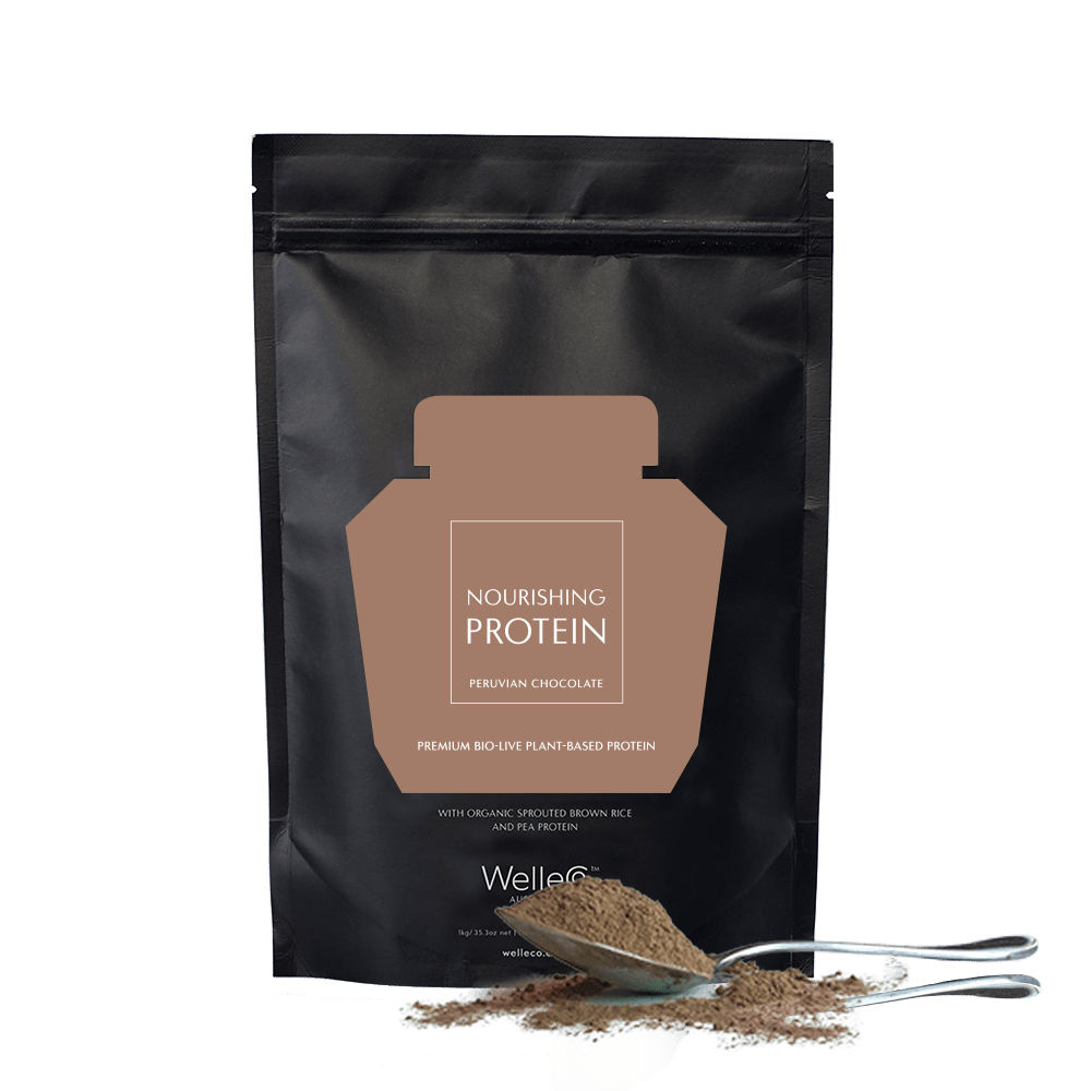 WelleCo Nourishing Plant Protein Refill Pack 300g - Chocolate by WelleCo