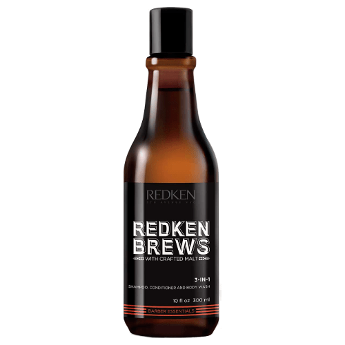 Redken Brews 3 In 1 Shampoo, Conditioner and Body Wash 300ml by Redken
