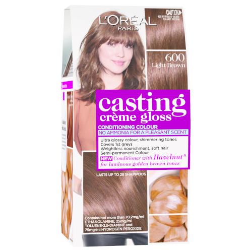 L'Oreal Paris Casting Crème Semi-Permanent Hair Colour (Ammonia Free) - Light Brown 600 by L'Oreal Paris