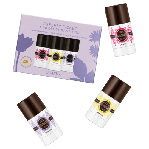Lavanila Freshly Picked Mini Deo Trio - Grapefruit, Lavendar & Lemon by Lavanila