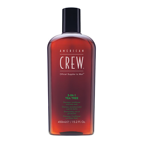 American Crew Tea Tree 3 in 1 Shampoo, Conditioner & Body Wash