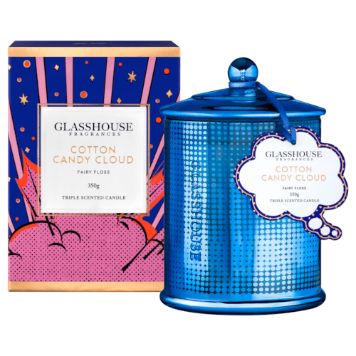 Glasshouse Cotton Candy Cloud Candle - Fairy Floss 350g by Glasshouse Fragrances