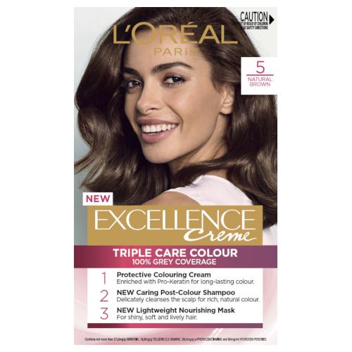 L'Oreal Paris Excellence Permanent Hair Colour - Natural Brown 5.0 by L'Oreal Paris
