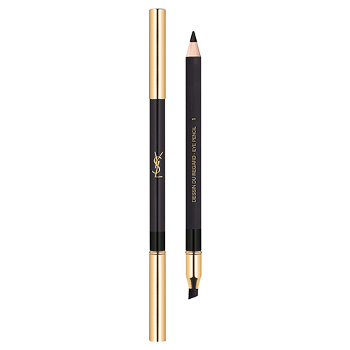 Yves Saint Laurent Dessin Du Regard Pencil and Blending Tip 01 Noir Volage by Yves Saint Laurent
