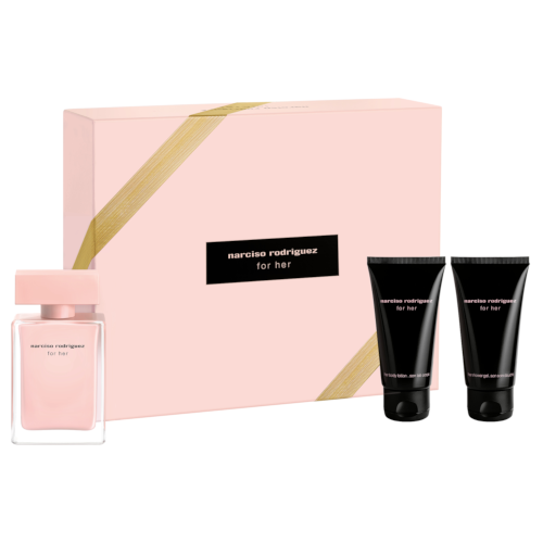 Narciso Rodriguez For her Christmas Set (50ml EDP, Body Lotion, Shower Gel)
