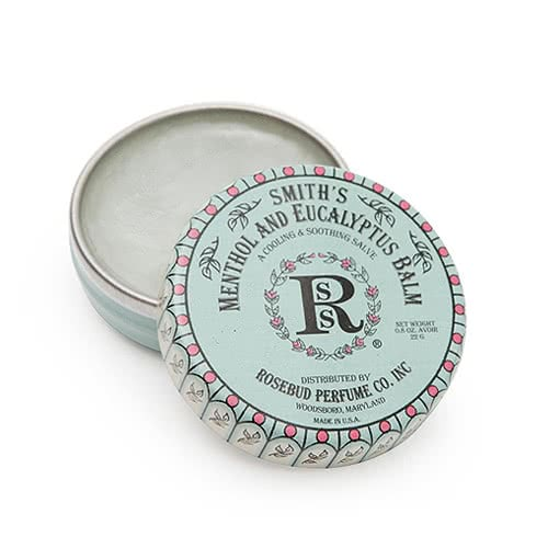Smith's Rosebud Salve - Menthol Eucalyptus Lip Balm - Tin