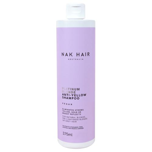 NAK Hair Platinum Blonde Anti-Yellow Shampoo 375ml by NAK Hair